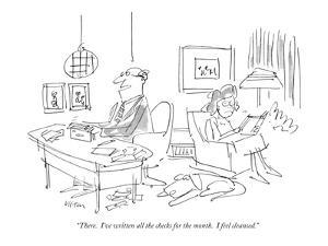 """""""There.  I've written all the checks for the month.  I feel cleansed."""" - New Yorker Cartoon by Dean Vietor"""