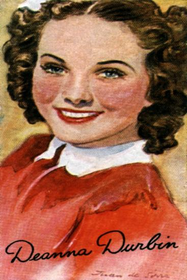Deanna Durbin, (1921-199), Singer and Actress in Hollywood Films of the 1930S and 1940S--Giclee Print
