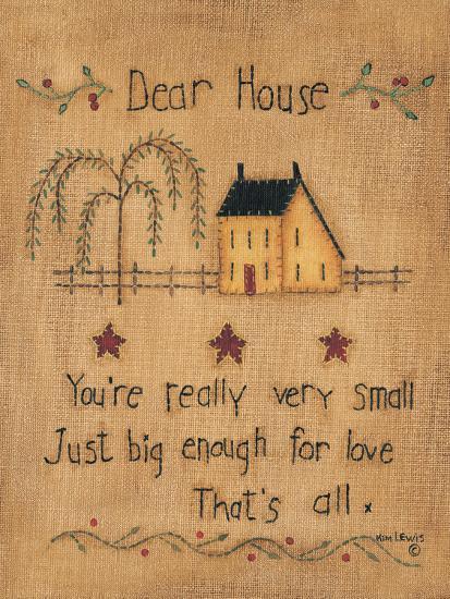 Dear House-Kim Lewis-Art Print
