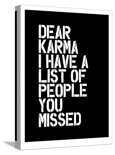 Dear Karma Blk-Brett Wilson-Stretched Canvas Print