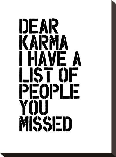 Dear Karma-Brett Wilson-Stretched Canvas Print