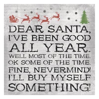 Dear Santa Nevermind Note-Jace Grey-Art Print