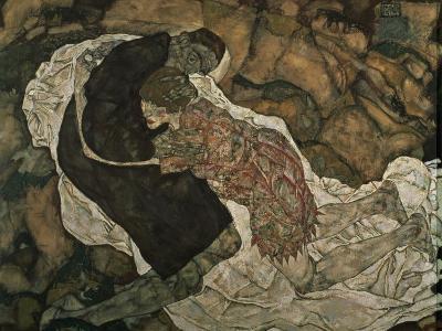 Death and the Maiden (Mann Und Madchen), 1915-Egon Schiele-Giclee Print