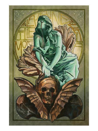 Death and the Maiden-Lantern Press-Art Print