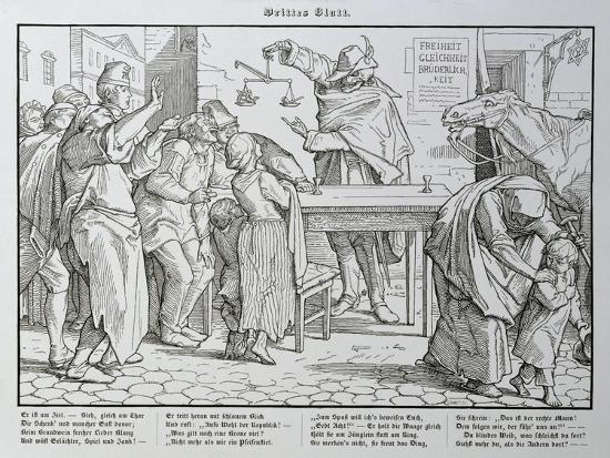Death before the Public House, from 'Another Dance of Death' Published by Georg Wigand in…-Alfred Rethel-Giclee Print