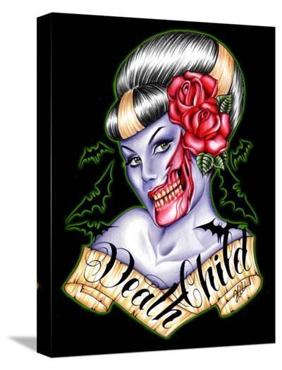 Death Child-Hilary Jane-Stretched Canvas Print
