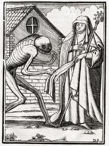 Death Comes to the Abbess, from 'Der Todten Tanz', Published Basel, 1843