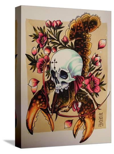 Death from the Depths-Alex Mister P-Stretched Canvas Print