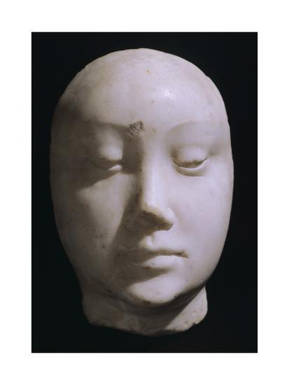 Death Mask of Queen Jeanna De Laval, Wife of Renato D'Angou-Francesco Laurana-Giclee Print