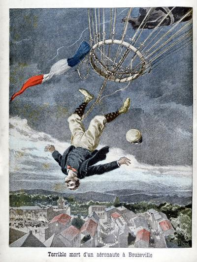 Death of an Aeronaut over Beuzeville, France, 1899--Giclee Print