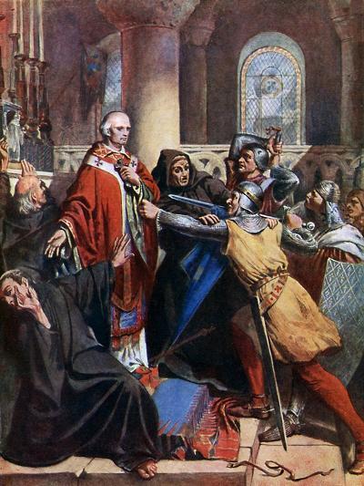Death of Becket, 1170-John Cross-Giclee Print