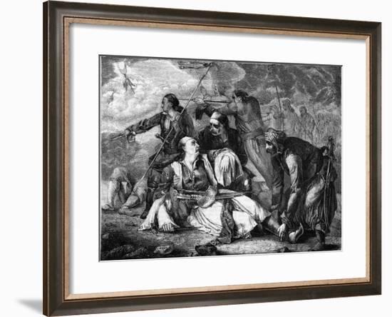 Death of Botsaris--Framed Giclee Print