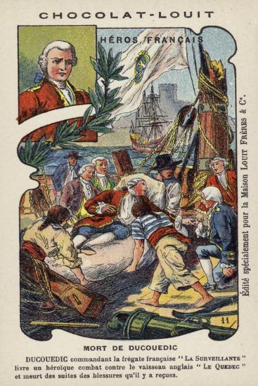 Death of Charles Louis, Vicomte De Couedic, Commander of the French Frigate La Surveillante, 1780--Giclee Print