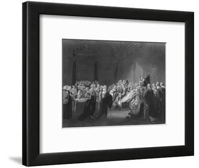 'Death of Chatham', 1859-Francis Nicholson-Framed Giclee Print