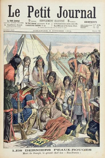 Death of Chief Joseph of the Lower Nez Perces, Front Cover of 'Le Petit Journal', 9th October 1904--Giclee Print