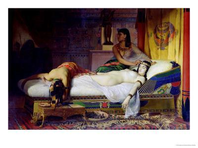 Death of Cleopatra, 1874-Jean André Rixens-Giclee Print