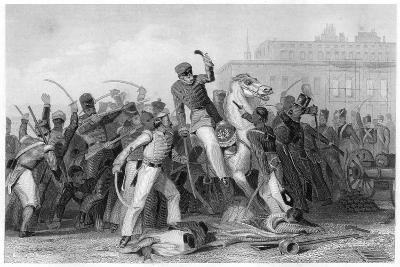 Death of Colonel Finnis at Meerut, 1857--Giclee Print