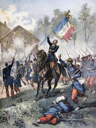 Death of Colonel Malleville, Battle of Solferino, 24th June 1859-Henri Meyer-Giclee Print