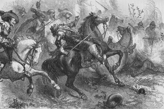 'Death of Falkland, at Newbury', 20 September 1643, (c1880)-Unknown-Giclee Print