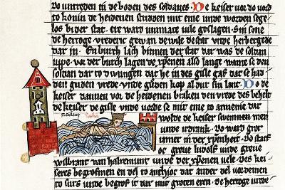 Death of Frederick I Barbarossa, 1190 (2nd Half of 13th Centur)--Giclee Print