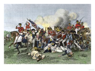 Death of General de Kalb at the Battle of Camden, South Carolina, c.1780--Giclee Print