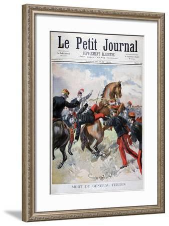 Death of General Ferron, 1894--Framed Giclee Print