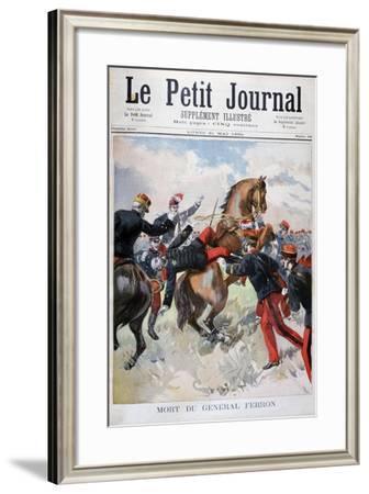 Death of General Ferron, 1894--Framed Giclee Print