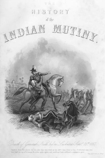 Death of General Neill before Lucknow, 25th September 1857--Giclee Print