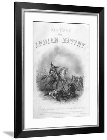 Death of General Neill before Lucknow, 25th September 1857--Framed Giclee Print