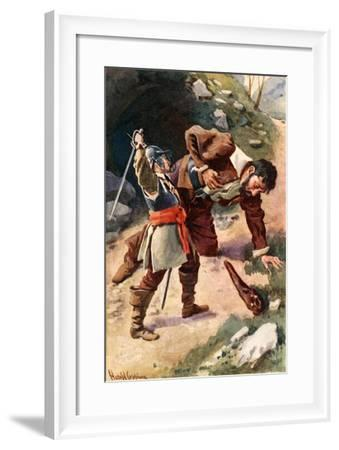Death of Giant Maul-Harold Copping-Framed Giclee Print