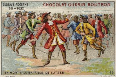 Death of Gustavus Adolphus, King of Sweden, at the Battle of Lutzen--Giclee Print