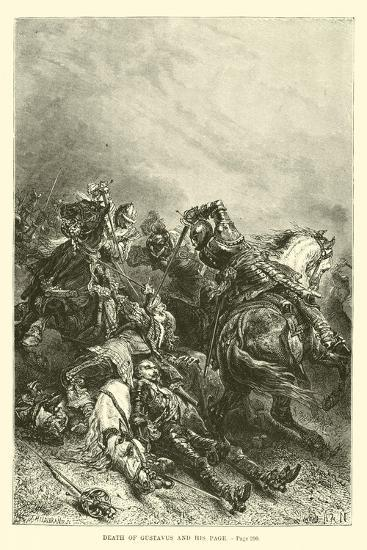 Death of Gustavus and His Page--Giclee Print