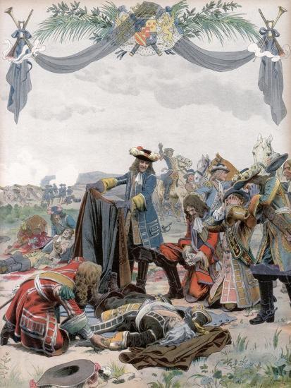 Death of Henri, Vicomte De Turenne, French Soldier, 1675 (C1871-194)-Maurice Leloir-Giclee Print