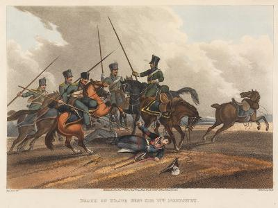 Death of Major General Sir William Ponsonby, Engraved by M. Dubourg, 1819 (Coloured Aquatint)-Franz Joseph Manskirch-Giclee Print
