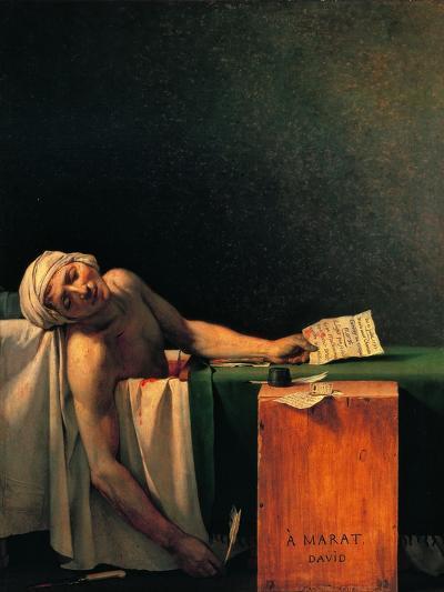Death of Marat-Jacques-Louis David-Art Print