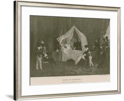 Death of Napoleon I-Charles Auguste Steuben-Framed Giclee Print