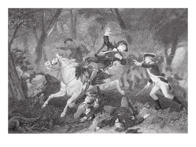 Death of Patrick Ferguson at the Battle of King's Mountain, 7 October 1780-American School-Giclee Print