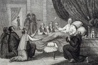Death of Pope Pius VI, Valencia, August 29, 1799, Italy--Giclee Print