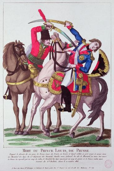 Death of Prince Louis of Prussia, 10 October 1806--Giclee Print