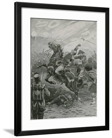 Death of Sir Edward Pakenham at the Battle of New Orleans, 1814-Paul Hardy-Framed Giclee Print
