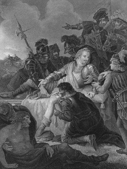 'Death of Sir Philip Sidney', 1859-Herbert Bourne-Giclee Print