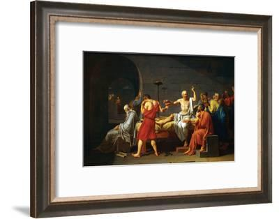 Death of Socrates-Jacques-Louis David-Framed Art Print