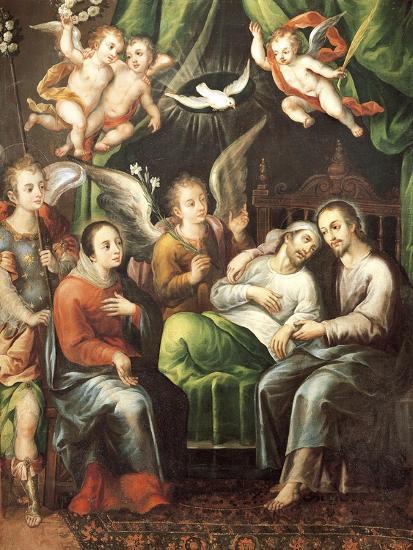 Death of St Joseph-Juan Correa-Giclee Print
