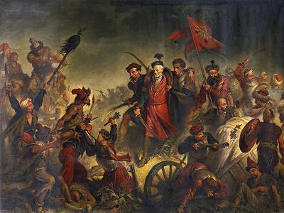 Death of Stanislaw Zolkiewski in a Battle of Cecora 1620, 1877-Walery Eljasz-Radzikowski-Giclee Print