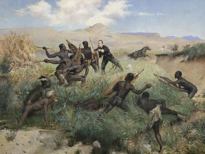Death of the Prince Imperial in Zululand, 1 June 1879-Paul Joseph Jamin-Giclee Print