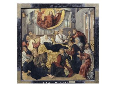 Death of the Virgin Mary - St. Matthew and St. Mark-Hugo Van Der Goes-Giclee Print