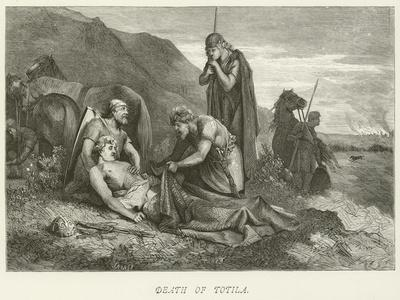 Death of Totila--Giclee Print