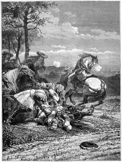 Death of Turenne, Henri De La Tour D'Auvergne, Marshal of France, 1898- Laplante-Giclee Print
