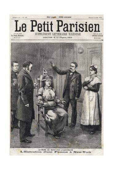 Death Penalty by Electrocution 1899-Stefano Bianchetti-Giclee Print
