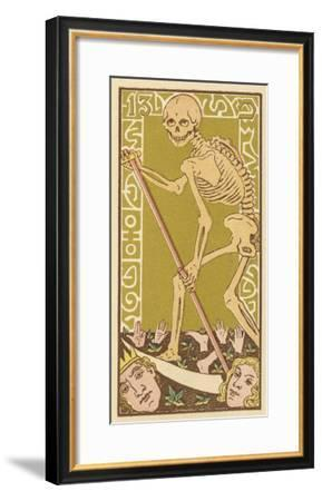Death Personified on a Tarot Card--Framed Giclee Print